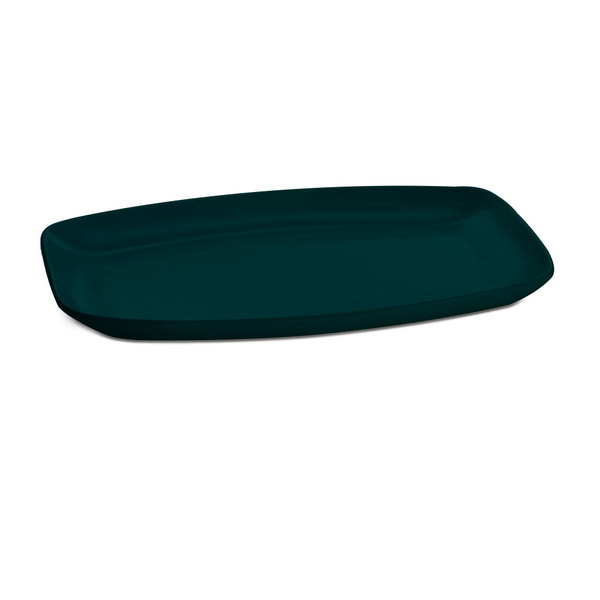 "Tablecraft CW1910HGN 15"" x 11"" Hunter Green Cast Aluminum Rectangle Fajita Plate Main Image 1"