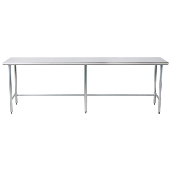 "Advance Tabco TAG-309 30"" x 108"" 16 Gauge Open Base Stainless Steel Commercial Work Table"