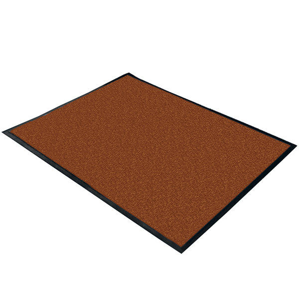 """Cactus Mat 1470F-4 4' Wide Special Cut Walnut Machine Washable Rubber-Backed Carpet Mat - 3/8"""" Thick"""