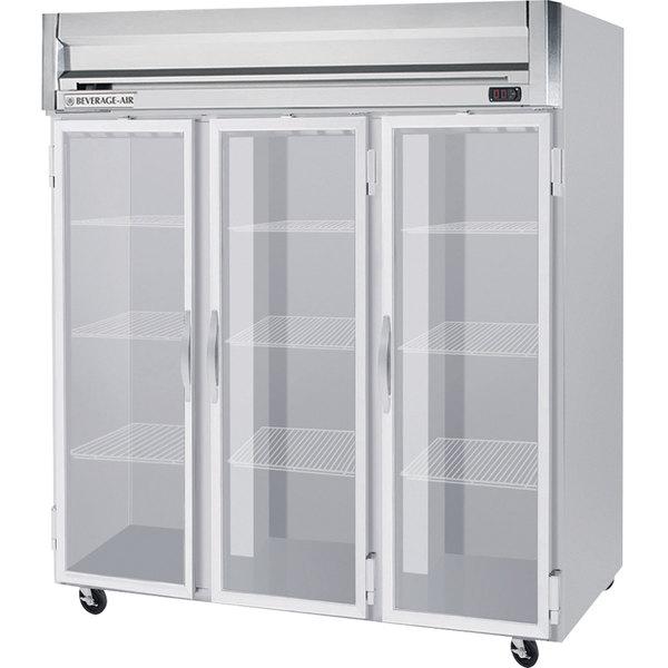 "Beverage-Air HR3-1G Horizon Series 78"" Top Mounted Glass Door Reach-In Refrigerator Main Image 1"