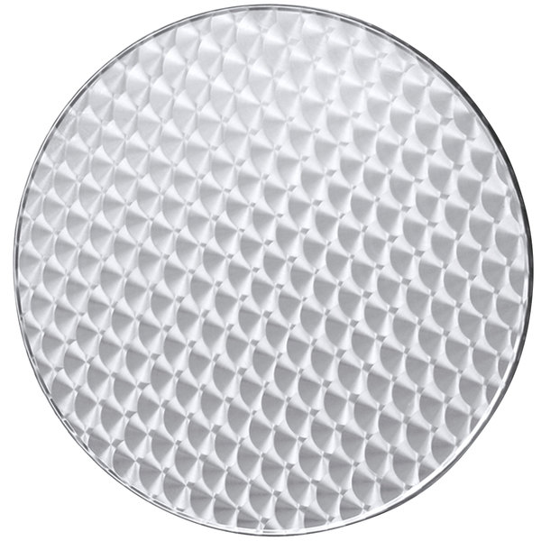 """BFM Seating PH24R Spectra 24"""" Round Outdoor / Indoor Tabletop - Stainless Steel"""