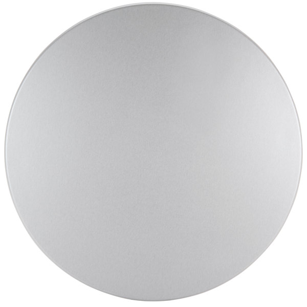 "BFM Seating SM36R SoHo 36"" Round Outdoor / Indoor Tabletop - Silver Mist"