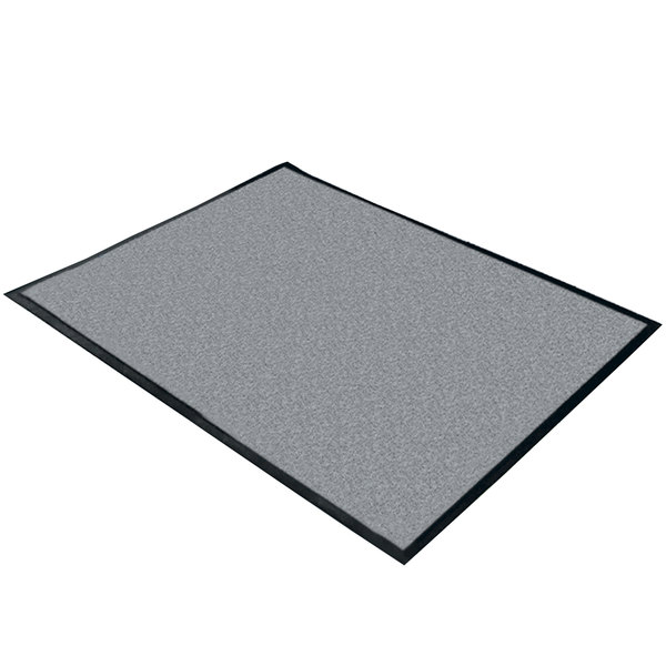 "Cactus Mat 1470M-31 3' x 10' Gray Machine Washable Rubber-Backed Carpet Mat - 3/8"" Thick"