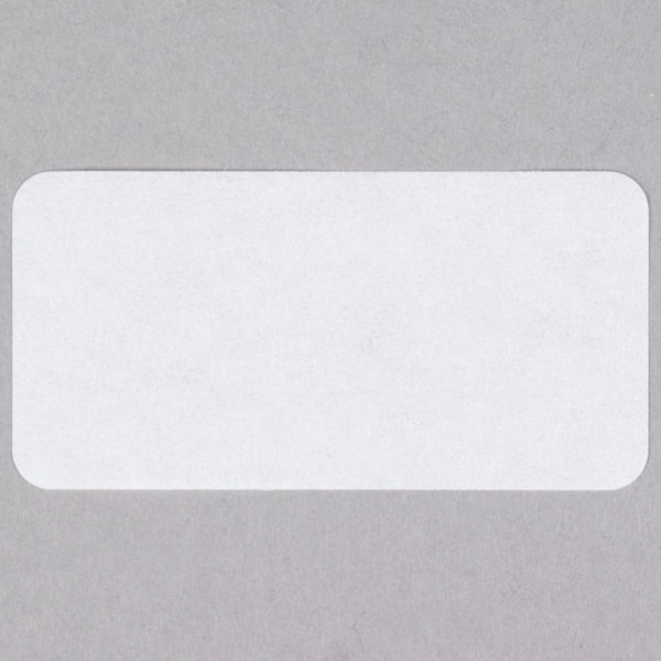 National Checking Company DB4600 1 inch x 2 inch Blank Dissolvable Product Label - 1000/Roll