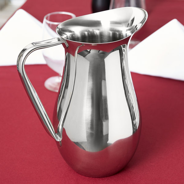 Vollrath 46550 2 Qt. Double Wall Stainless Steel Water Pitcher