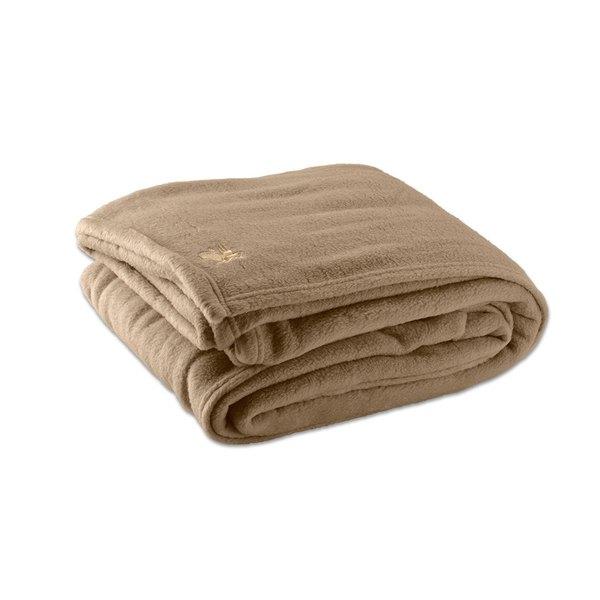 "Each Fleece Hotel Blanket - 100% Polyester - Desert Tan Queen 90"" x 90"""