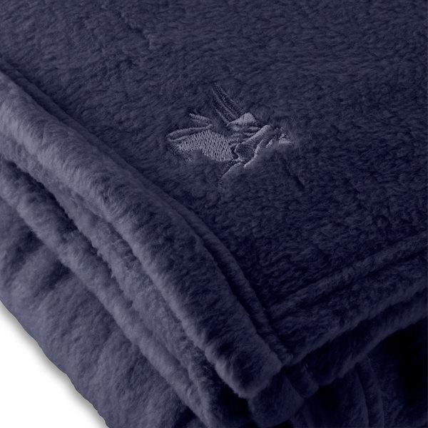"""Case of 4 Fleece Hotel Blanket - 100% Polyester - Navy Blue Full 80"""" x 90"""""""