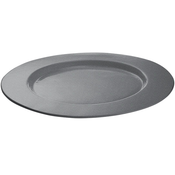 Tablecraft CW11004GR 16 inch Granite Cast Aluminum Round Serving Plate