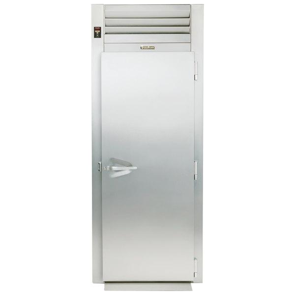 """Traulsen RRI132LPUT-FHS 36"""" Stainless Steel Solid Door Roll-Thru Refrigerator"""