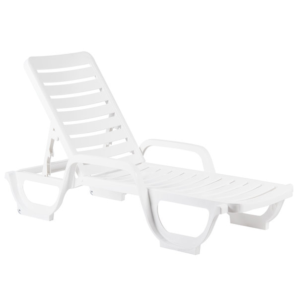 White Stacking Adjule Resin Chaise Image Preview Main Picture
