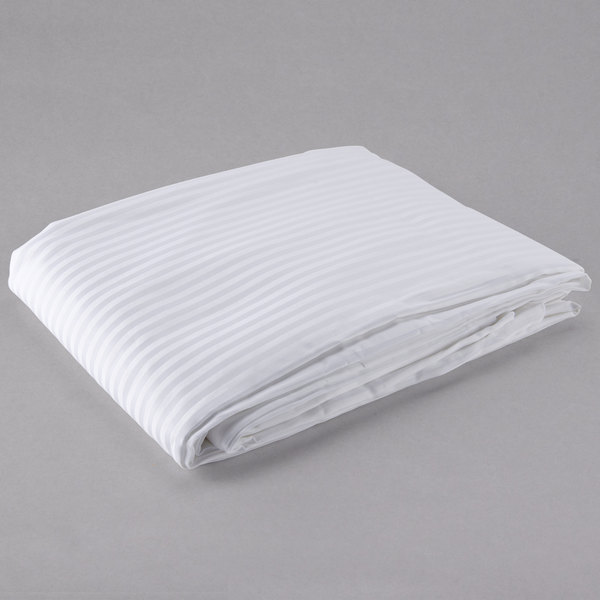 "Each Hotel Duvet Cover - 250 Thread Count Cotton / Poly - White Tone on Tone Twin 70"" x 93"""
