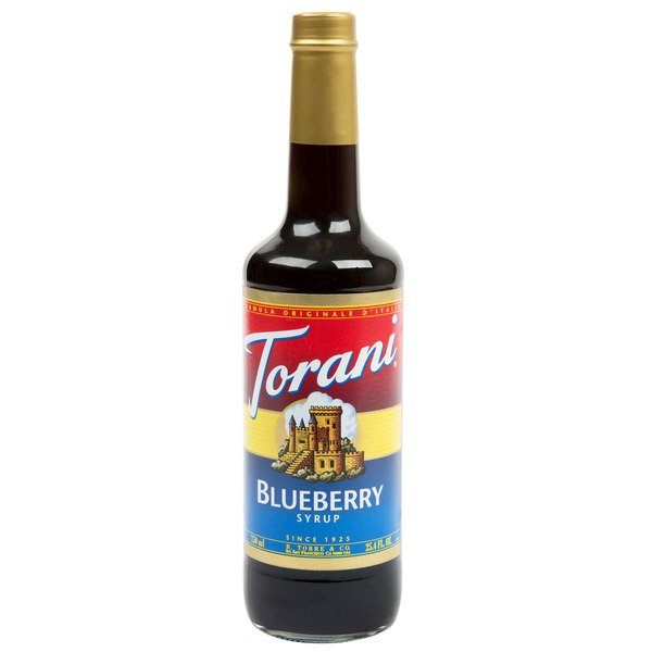 Torani 750 mL Blueberry Flavoring / Fruit Syrup