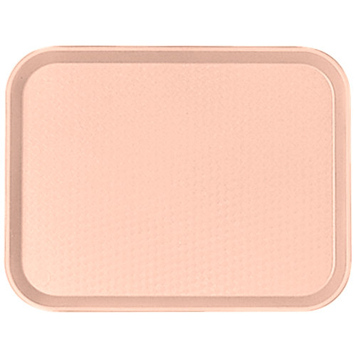 "Cambro 1014FF106 10"" x 14"" Light Peach Customizable Fast Food Tray - 24/Case"