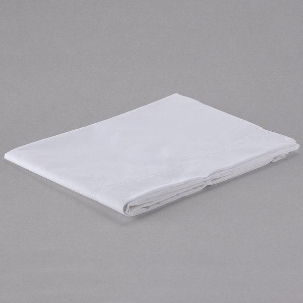"Hotel Pillowcase - 200 Thread Count Cotton / Poly - White Standard 20"" x 33"""