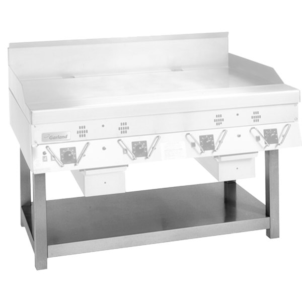 Garland SCG-60SS Stainless Steel Equipment Stand with Undershelf for CG-60R and ECG-60R Griddles