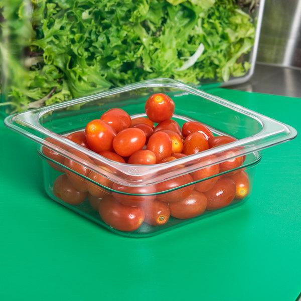 "Carlisle 3068307 StorPlus 1/6 Size Clear Food Pan - 2 1/2"" Deep"