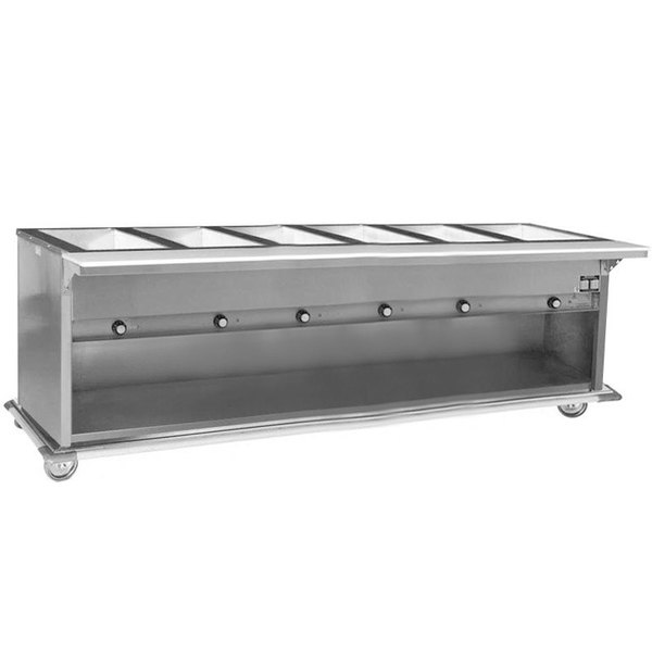 Eagle Group PHT6OB Portable Electric Hot Food Table with Enclosed Base - Six Pan - Open Well, 240V