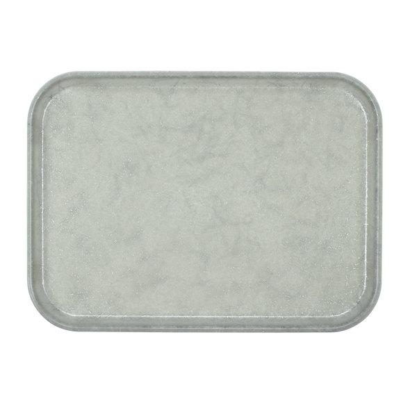 """Cambro 1318531 12 5/8"""" x 17 3/4"""" x 11/16"""" Rectangular Galaxy Antique Parchment Silver Customizable Fiberglass Camtray - 12/Case"""