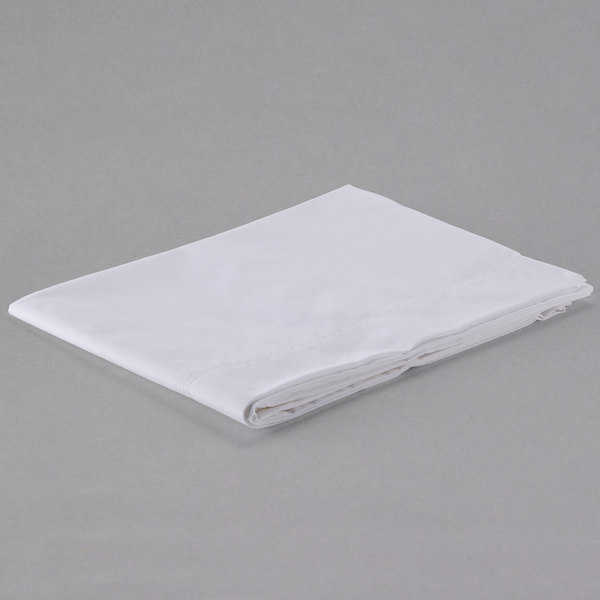 """Pack of 12 Hotel Pillowcase - 300 Thread Count Cotton / Poly - White Queen 20"""" x 37"""""""