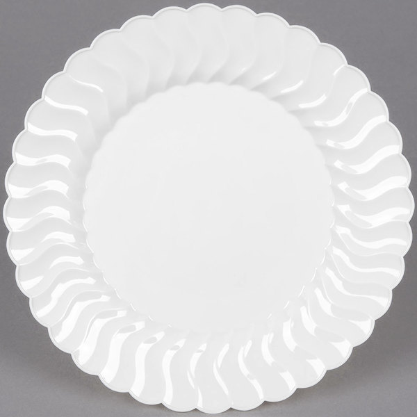 WNA Comet CW9180W Classicware 9 inch White Plastic Plate - 180/Case