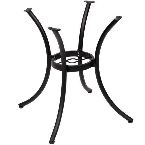 BFM Seating MSTB2626BL Martinique Standard Height Outdoor / Indoor Black Aluminum Table Base with Umbrella Hole