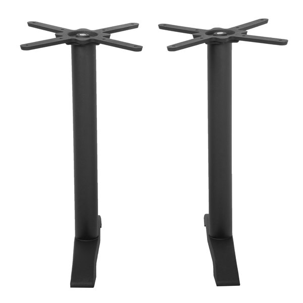 BFM Seating PHTB0022BL Margate Outdoor / Indoor Standard Height Black End Table Base Set Main Image 1