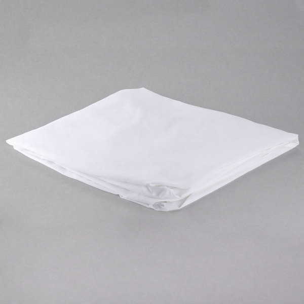78 inch x 80 inch x 14 inch White King Size 200 Thread Count Cotton / Poly Fitted Hotel Sheet - 12/Case