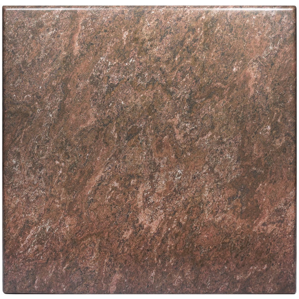 """BFM Seating BB3636 SoHo 36"""" Square Outdoor / Indoor Tabletop - Baltic Brown"""