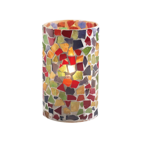 """Sterno Products 80204 5"""" Multicolor Mosaic Candle Liquid Candle Holder"""