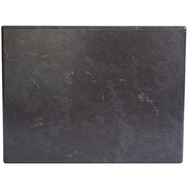 "BFM Seating GS2432 SoHo 24"" x 32"" Rectangular Outdoor / Indoor Tabletop - Gray Slate Main Image 1"