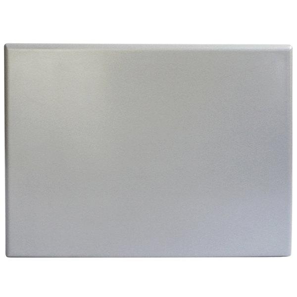 "BFM Seating SM3248 SoHo 32"" x 48"" Rectangular Outdoor / Indoor Tabletop - Silver Mist"