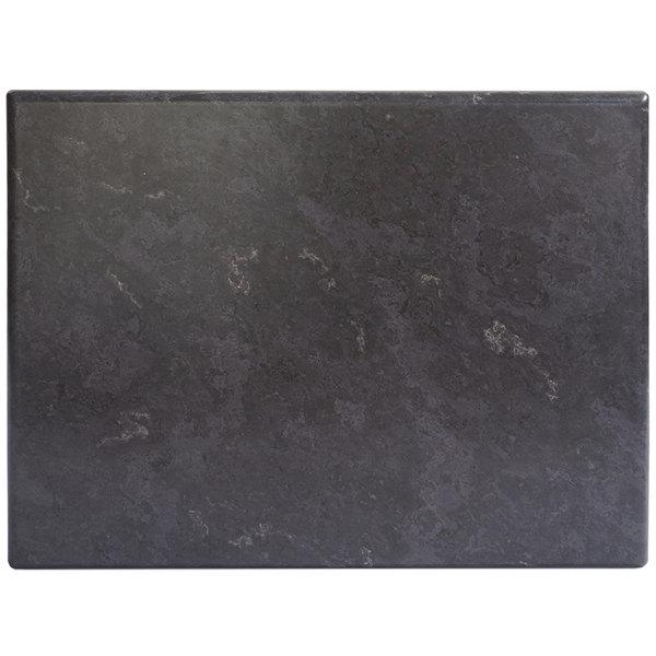 "BFM Seating GS3248 SoHo 32"" x 48"" Rectangular Outdoor / Indoor Tabletop - Gray Slate"