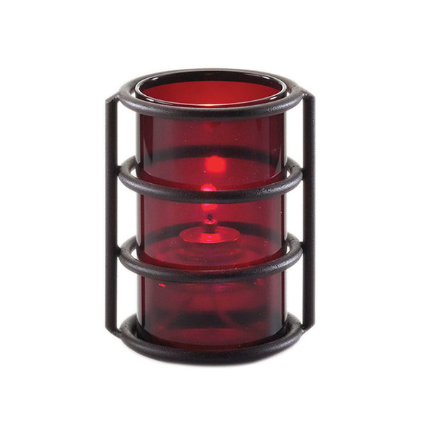 "Sterno Products 85330 5"" Plastic Red Cylinder Globe"