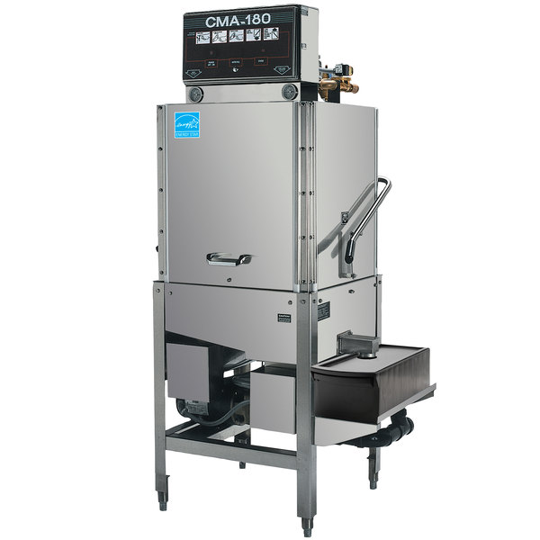 CMA Dishmachines CMA-180-S Single Rack High Temperature Straight Dishwasher - 208/240V, 1 Phase