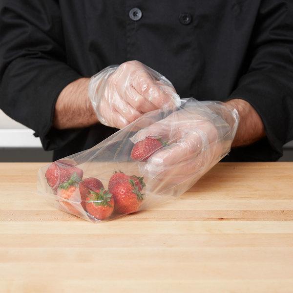 "Plastic Food Bag 4"" x 2"" x 10"" Extra Heavy - 1000/Box"