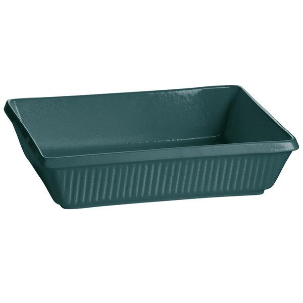 Tablecraft CW2090HGN 3.5 Qt. Hunter Green Cast Aluminum Rectangular Casserole Dish