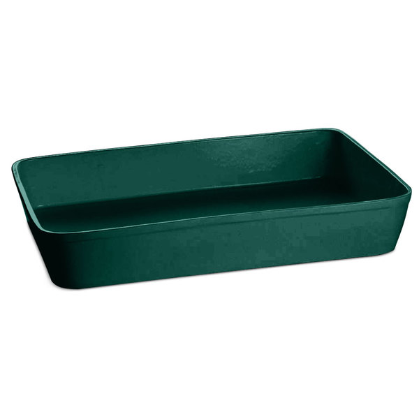 Tablecraft CW20200HGN 15 Qt. Hunter Green Cast Aluminum Extra Large Rectangular Casserole Dish