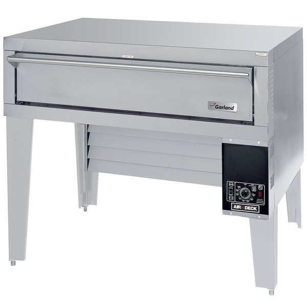 """Garland G56PB Natural Gas 63"""" Air Deck Pizza Oven with Bottom-Mounted Power Module - 80,000 BTU Main Image 1"""