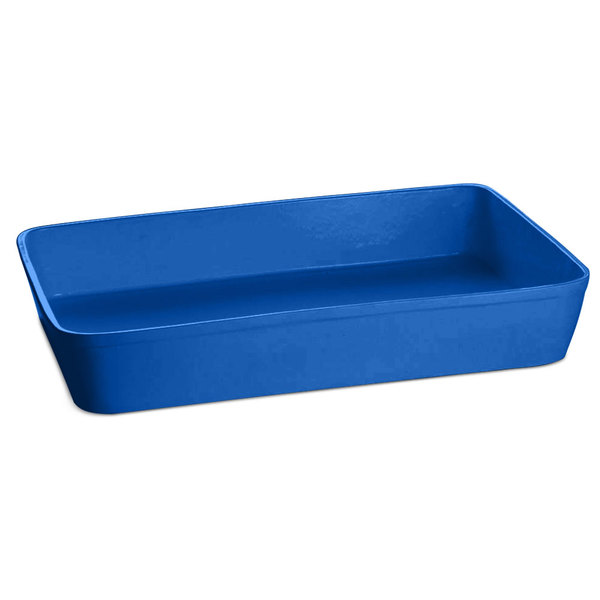 Tablecraft CW20200CBL 15 Qt. Cobalt Blue Cast Aluminum Extra Large Rectangular Casserole Dish