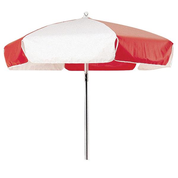 Cambro 14322 Red and White Replacement Umbrella for CVC55 Camcruiser