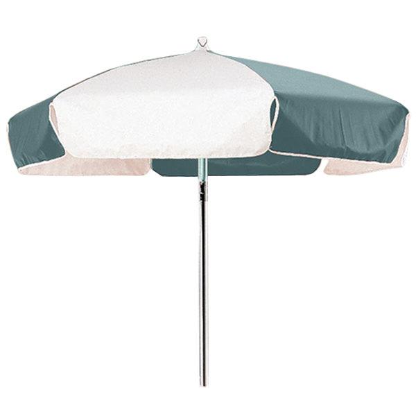 Cambro 14321 Green and White Replacement Umbrella for CVC55 Camcruiser