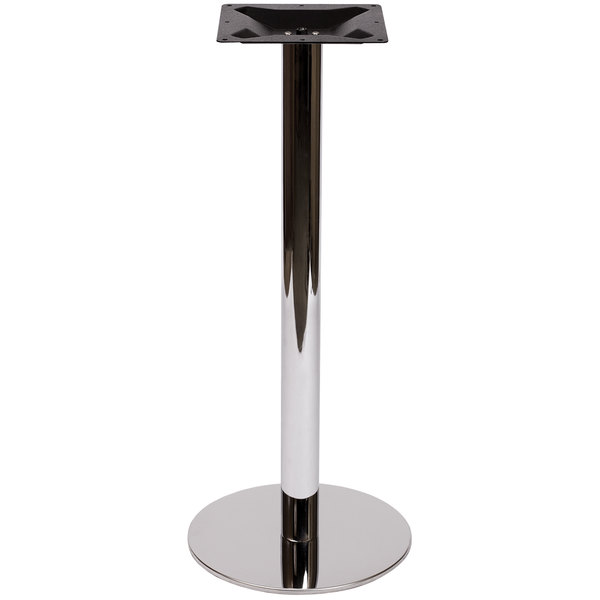 "BFM Seating PHTB18RCHT Adele Bar Height Indoor 18"" Chrome Round Table Base Main Image 1"
