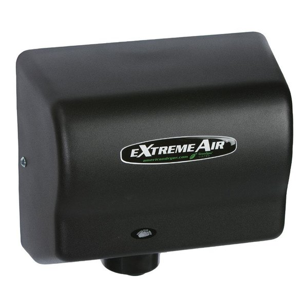 American Dryer GXT9-BG ExtremeAir Automatic Hand Dryer with Steel Black Cover - 100/240V, 1500W