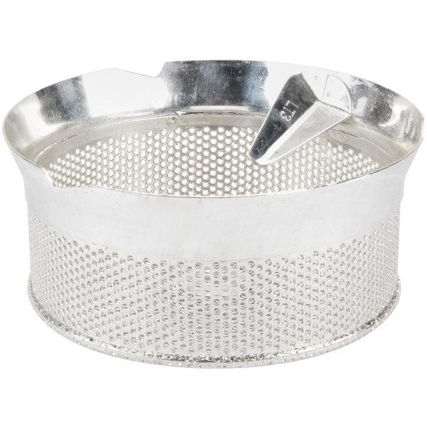 "Tellier P10030 1/8"" Perforated Replacement Sieve for 15 Qt. Food Mill on Stand - Tinned Steel"