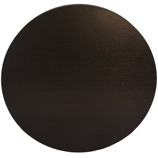 "BFM Seating EST45R Midtown 45"" Round Indoor Tabletop - Espresso"
