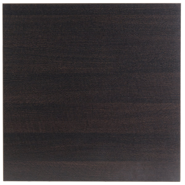 "BFM Seating EST3636 Midtown 36"" Square Indoor Tabletop - Espresso Main Image 1"