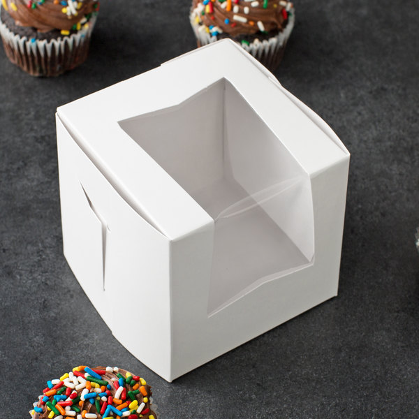 "Window Cupcake / Bakery Box 4"" x 4"" x 4"" - 200/Case"