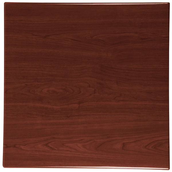 "BFM Seating TTRS2424WA Resin 24"" Square Indoor Tabletop - Walnut"
