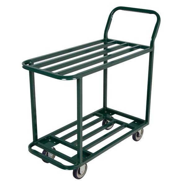 "Winholt 110 Two Shelf Steel Stocking Cart - 41"" x 18"" Main Image 1"