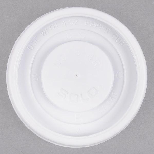 Dart Solo VL34R-0007 4 oz. White Plastic Travel Lid - 100/Pack